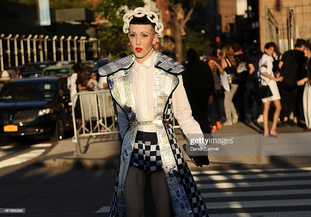 Michelle Harper is seen outside the Givenchy show during New York Fashion Week 2016 on September 11, 2015 in New York City.