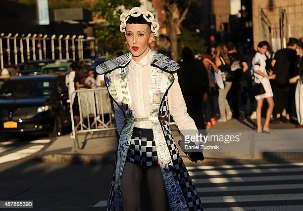 Michelle Harper is seen outside the Givenchy show during New York Fashion Week 2016 on September 11 2015 in New York City
