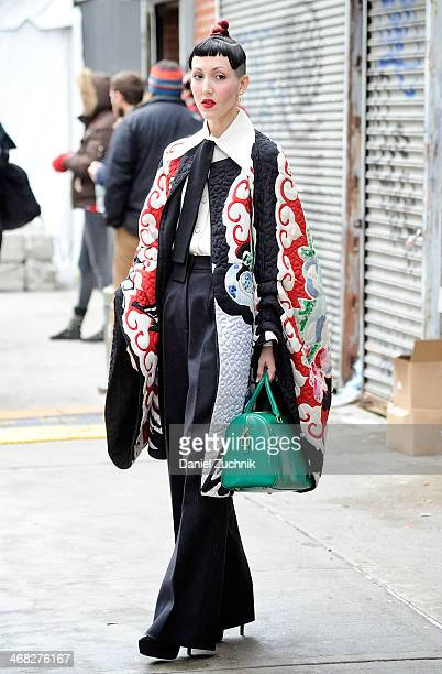 Michelle Harper is seen outside the Thakoon show on February 9, 2014 in New York City.