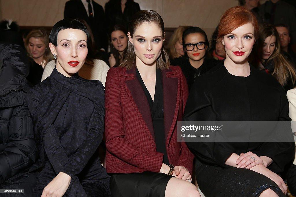 Zac Posen - Front Row - Mercedes-Benz Fashion Week Fall 2015