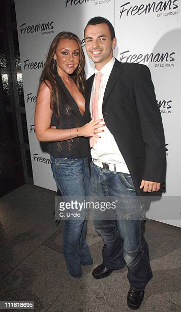 Michelle Heaton and Andy Scott Lee during Ashlee Simpson Birthday Party Arrivals October 11 2006 at Embassy Club in London Great Britain
