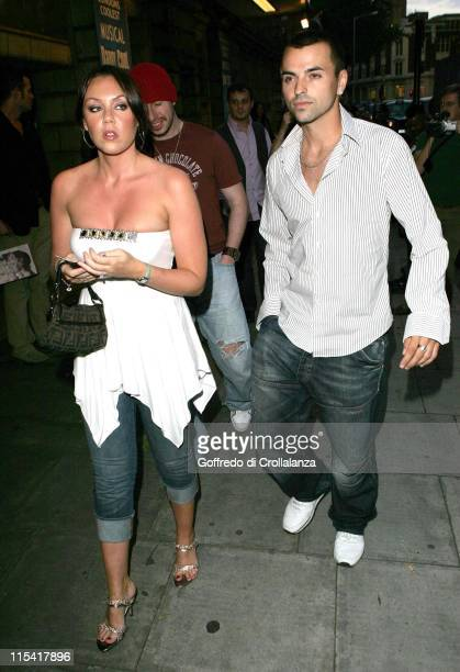 Michelle Heaton and Andy Scott Lee during 'Daddy Cool' World Premiere at Shaftesbury Theatre in London Great Britain