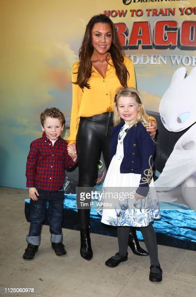 Michelle Heaton and guests attend How To Train Your Dragon The Hidden World – Immersive Screening on January 26 2019 in London England