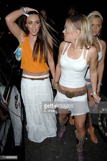 Michelle Heaton and guests during 2005 British Soap Awards After Party at The Embassy Club in London Great Britain
