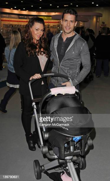 Michelle Heaton and Hugh Hanley attend the press day of 'The Baby Show' at ExCel on February 25 2012 in London England