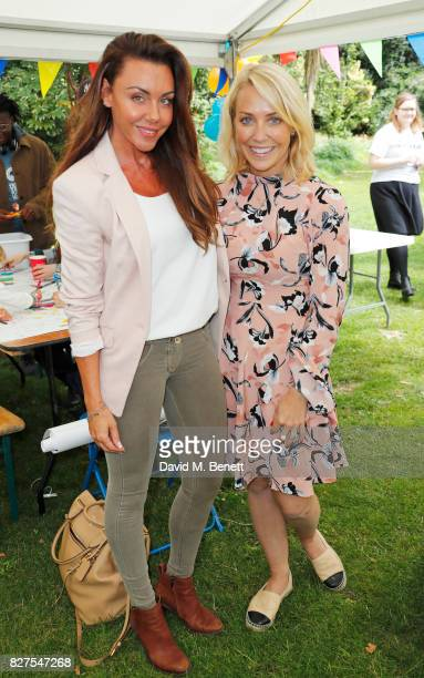 Michelle Heaton and Laura Hamilton attend In Kind Direct's 20th birthday 'Big Community Picnic' at The Royal Hospital Chelsea on August 8 2017 in...