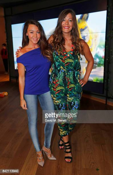 """Michelle Heaton and Lucy Horobin attend the gala screening of """"The Jungle Bunch"""" at Vue Leicester Square on September 3, 2017 in London, England."""