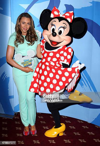 Michelle Heaton and Minnie Mouse is revealed as Disney's Celebrity Mum of the Year 2014 at 4 Hamilton Place on March 19 2014 in London England