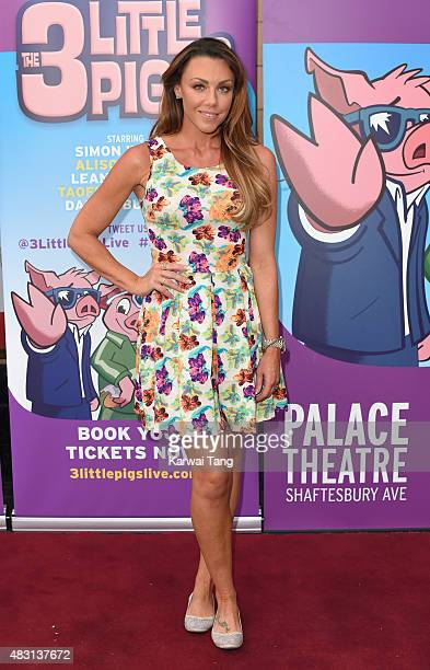 Michelle Heaton attends a VIP performance of 'The Three Little Pigs' at Palace Theatre on August 6 2015 in London England