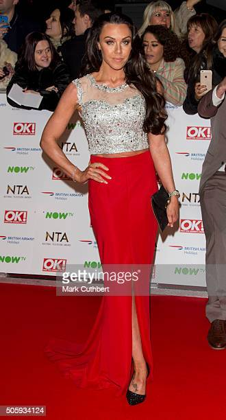 Michelle Heaton attends the 21st National Television Awards at The O2 Arena on January 20 2016 in London England