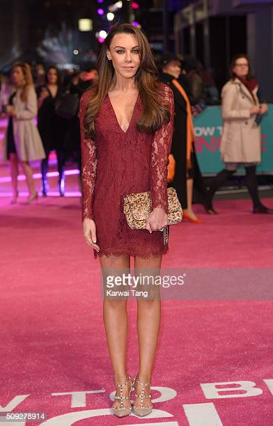 Michelle Heaton attends the European Premiere of 'How To Be Single' at the Vue West End on February 9 2016 in London United Kingdom