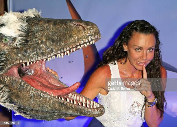Michelle Heaton attends the official launch of Dinosaurs in the Wild a new immersive experience at NEC Arena on June 20 2017 in Birmingham England
