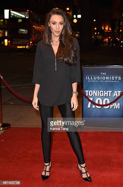 Michelle Heaton attends the press night for 'The Illusionists' at Shaftesbury Theatre on November 16 2015 in London England