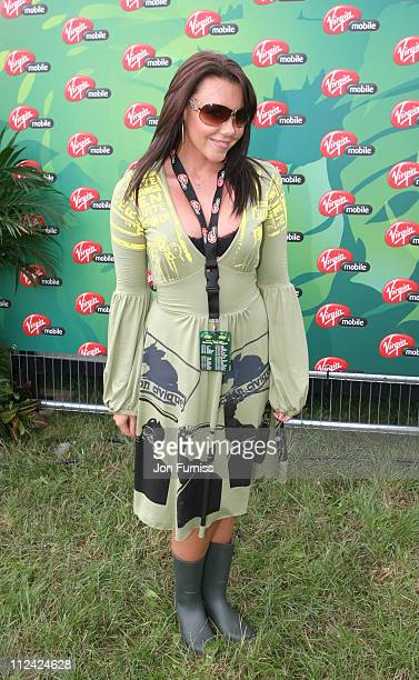 Michelle Heaton in the Virgin Mobile Louder Lounge at the V Festival