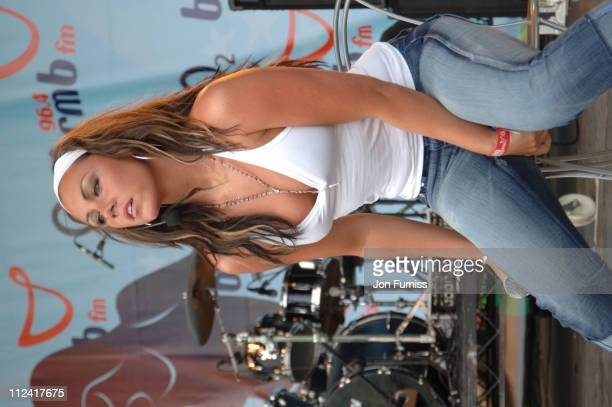 Michelle Heaton of Liberty X during BRMB Party in the Park Show at Cannon Hill Park in Birmingham Great Britain