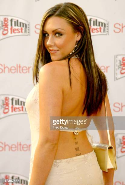 Michelle Heaton of Liberty X during Diet Coke Film Festival 2004 Dirty Dancing Gala Film Premiere at The Electric Cinema in London Great Britain