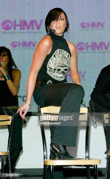 Michelle Heaton of Liberty X during Liberty X Performs in HMV to Promote New Album 'Being Somebody' London at HMV 150 Oxford Street in London Great...