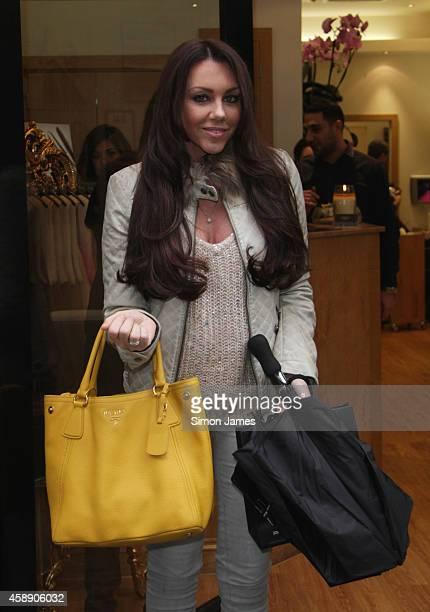 Michelle Heaton sighted leaving the hairdressers on November 13 2014 in London England