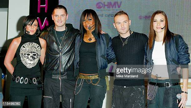 Michelle Heaton Tony Lundon Kelli Young Kevin Simm and Jessica Taylor of Liberty X