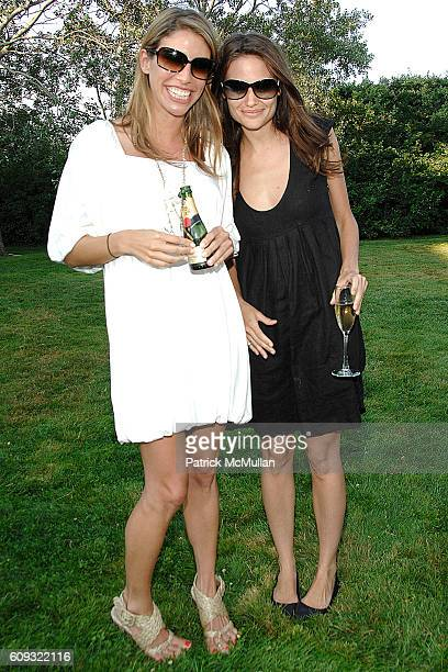 Michelle Hellman and Kristina Ratliff attend ACRIA and BANANA REPUBLIC Host COCKTAILS AT SUNSET at The Home of Ross Bleckner on July 7 2007 in...