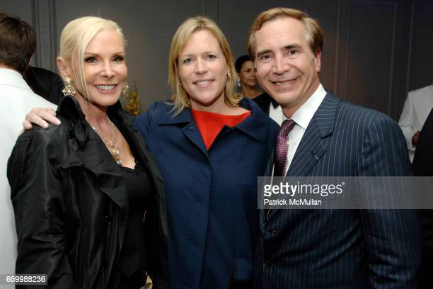 Michelle Herbert Marjorie Gubelmann and Thierry Chaunu attend SUZANNE SAPERSTEIN Hosts Private Cocktail Event at LEVIEV at Leviev on May 14 2009 in...
