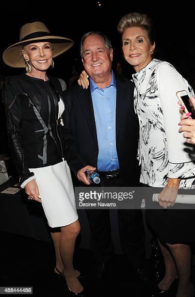 Michelle Herbert, singer/songwriter Neil Sedaka and Leba Sedaka attend Dennis Basso Front Row & Backstage Spring 2016 New York Fashion Week: The...