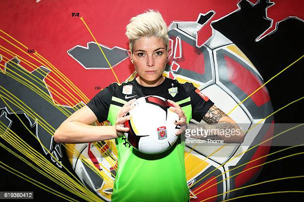 Michelle Heyman of Canberra poses during the 2016/17 WLeague Season Launch on October 31 2016 in Sydney Australia