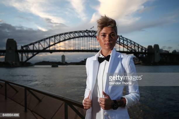 Michelle Heyman poses ahead of the Australian LGBTI Awards 2017 at Sydney Opera House on March 2 2017 in Sydney Australia