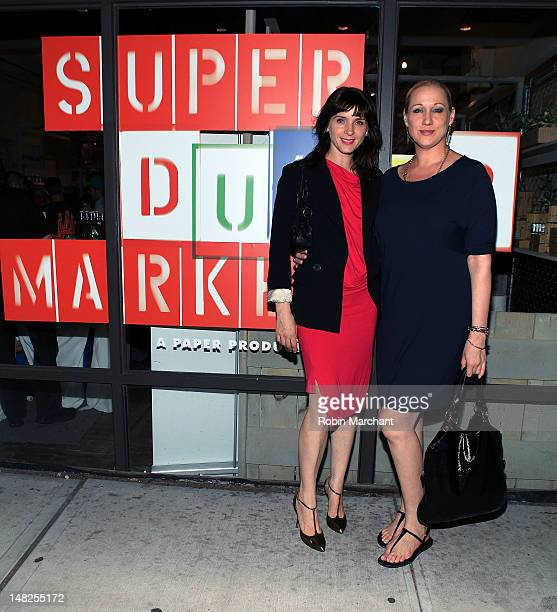 Michelle Hicks and Amy Sacco attends Paper Magazine's Super Market Opening Night Party at Super Market on July 12 2012 in New York City
