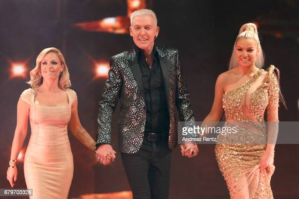 Michelle HP Baxxter and Shirin David during the finals of the tv competition 'Deutschland sucht den Superstar' at Coloneum on May 6 2017 in Cologne...