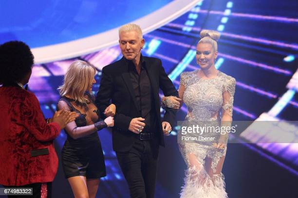 Michelle HP Baxxter and Shirin David during the fourth event show and semi finals of the tv competition 'Deutschland sucht den Superstar' at Coloneum...