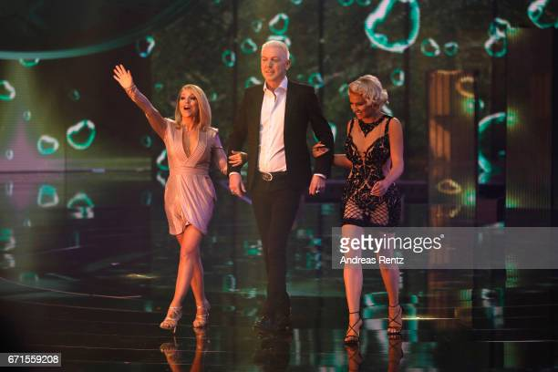 Michelle HP Baxxter and Shirin David during the third event show of the tv competition 'Deutschland sucht den Superstar' at Coloneum on April 22 2017...