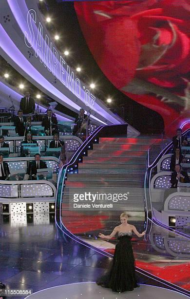Michelle Hunzicher during 57th San Remo Music Festival - Joss Stone at Teatro Ariston in San Remo, Italy.