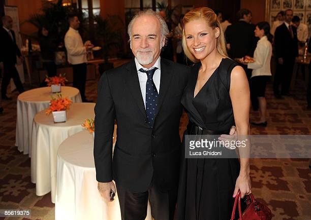 Michelle Hunziker and Antonio Ricci attend the 2008 E' Giornalismo award on March 26 2009 in Milan Italy Attilio Bolzoni of 'la Repubblica' newspaper...
