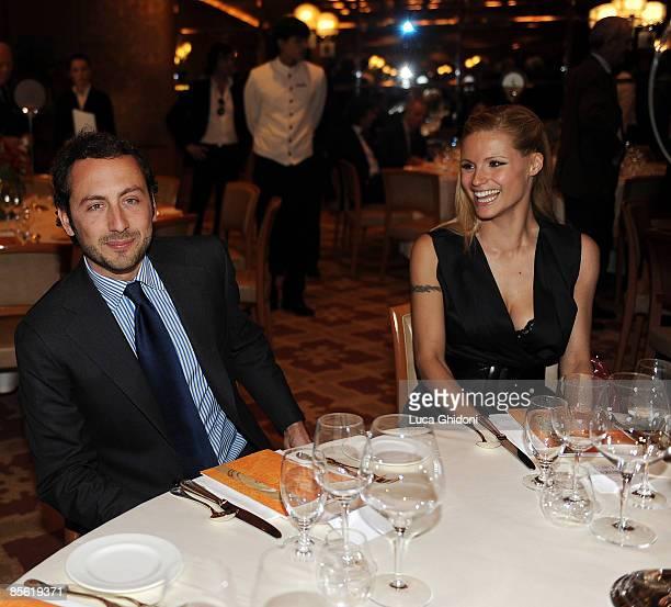 Michelle Hunziker and boyfriend Luigi De Laurentis attend the 2008 E' Giornalismo award on March 26 2009 in Milan Italy Attilio Bolzoni of 'la...