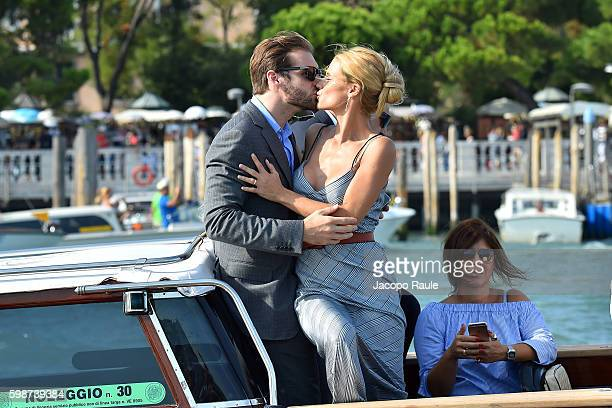 Michelle Hunziker and Tomaso Trussardi are seen during the 73rd Venice Film Festival on September 2 2016 in Venice Italy