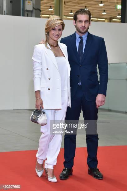 Michelle Hunziker and Tomaso Trussardi attend the Convivio 2014 on June 12 2014 in Milan Italy