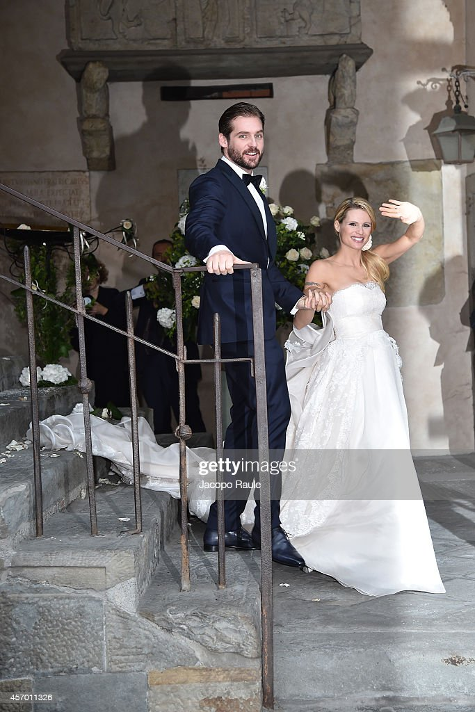 Michelle Hunziker Wedding With Tomaso Trussardi