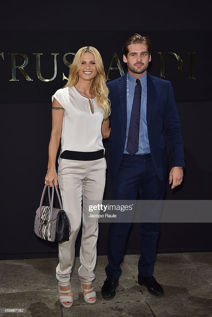 Trussardi - Front Row -  	Milan Fashion Week Womenswear Spring/Summer 2015