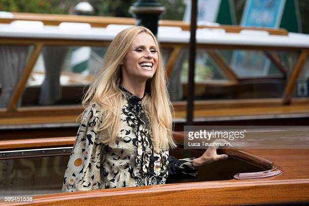 Michelle Hunziker arrive at Lido during the 73rd Venice Film Festival on September 5 2016 in Venice Italy