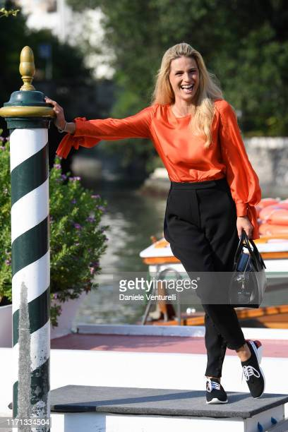 Michelle Hunziker arrives at the 76th Venice Film Festival on August 31 2019 in Venice Italy