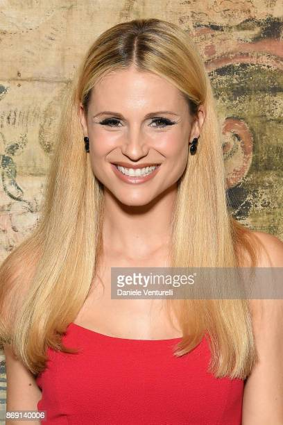 Michelle Hunziker attends Doppia Difesa Gala during the 12th Rome Film Fest at Hotel Bernini Bristol on November 1 2017 in Rome Italy