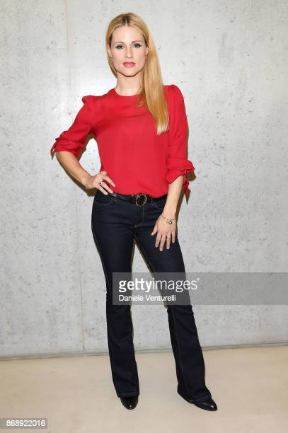 Michelle Hunziker attends Doppia Difesa Uccisa In Attesa Di Giudizio screening during the 12th Rome Film Fest at Maxxi on November 1 2017 in Rome...