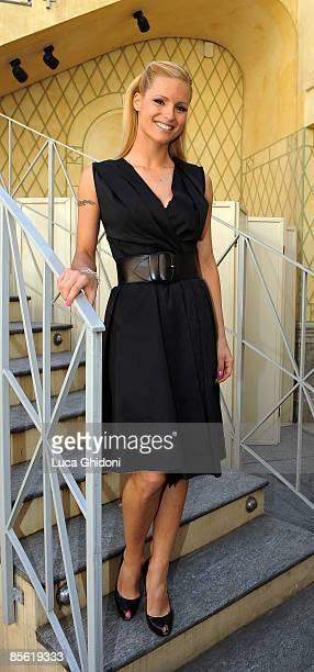 Michelle Hunziker attends the 2008 E' Giornalismo award on March 26 2009 in Milan Italy Attilio Bolzoni of 'la Repubblica' newspaper won this years...