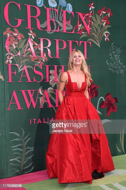 Michelle Hunziker attends the Green Carpet Fashion Awards during the Milan Fashion Week Spring/Summer 2020 on September 22 2019 in Milan Italy