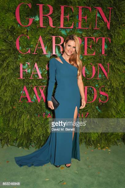 Michelle Hunziker attends the Green Carpet Fashion Awards Italia at Teatro Alla Scala on September 24 2017 in Milan Italy