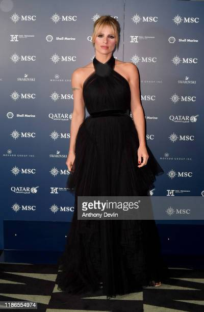 Michelle Hunziker attends the launch of the MSC Grandiosa Naming Ceremony on November 09 2019 in Hamburg Germany