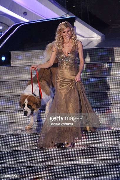Michelle Hunziker during 57th San Remo Music Festival - Day 3 at Teatro Ariston in Sanremo, Italy.
