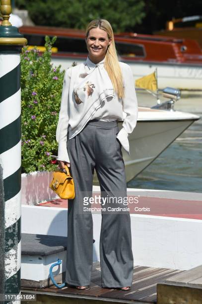 Michelle Hunziker is seen arriving at the 76th Venice Film Festival on September 01 2019 in Venice Italy