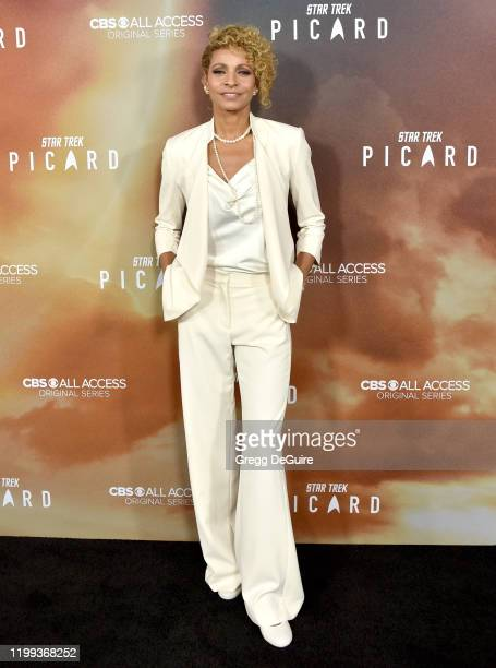 Michelle Hurd attends the Premiere Of CBS All Access' Star Trek Picard at ArcLight Cinerama Dome on January 13 2020 in Hollywood California